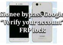 "Gionee | How to bypass Google ""Verify your account"" FRP lock"