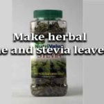 how to make herbal (thyme and stevia leaves) tea