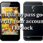 "Intex Aqua | How to bypass google ""Verify your account"" FRP lock"